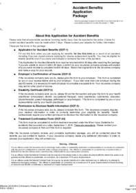 OCF-1 Form for Accidents Benefits