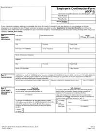 OCF-2 Employer's Confirmation Form