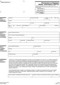 OCF-5 Permission to Disclose Health Information