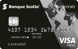 carte Visa Infinite* PasseportMC Banque Scotia