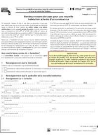 Formulaire de remboursement de taxes pour une nouvelle habitation achetée d'un constructeur