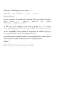 Modèle de lettre de résiliation d'assurance moto au Québec