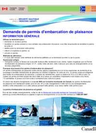 Demande de permis d'embarcation de plaisance
