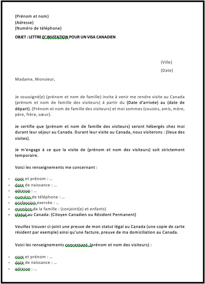 lettre invitation
